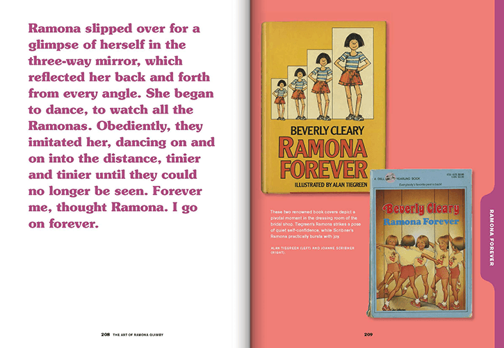 Ramona Forever, text and covers, from The Art of Ramona Quimby